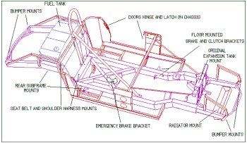 Sketches Lamborghini on Ac Cobra S Chassis This Is The Earliest Kind Of Chassis From The